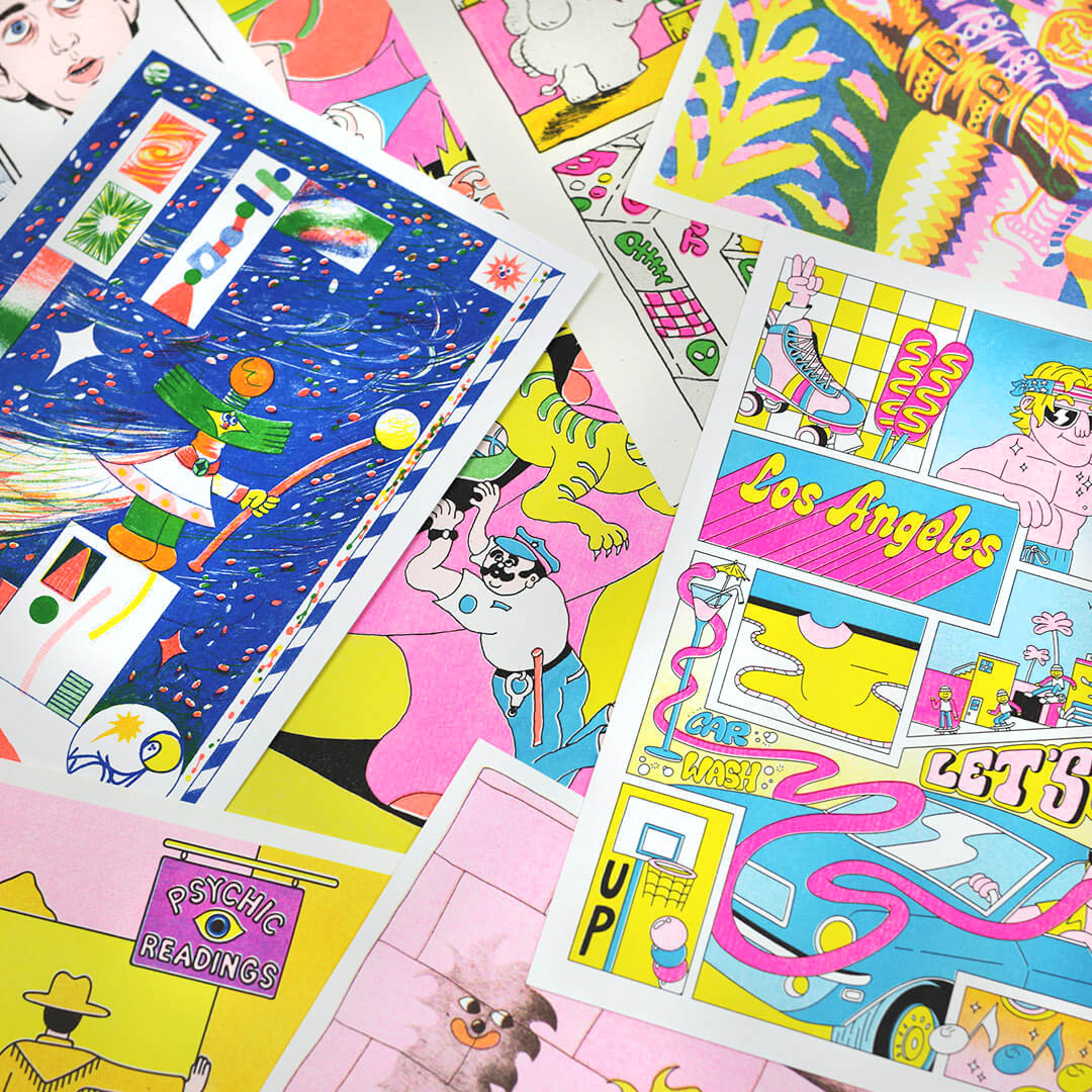 Selection of Risograph Prints